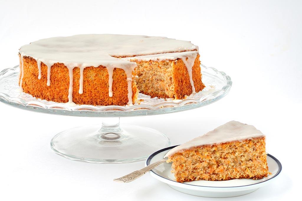 foto torta di carote e mandorle